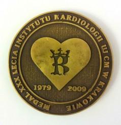 Medal XXX lecia Instytutu Kardiologii UJ CM w Krakowie