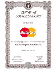 Master Card  Szklanka pełna śmiechu