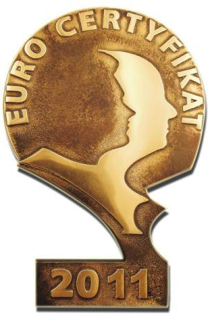 EuroCertyfikat 2011 w kategorii Certyfikat Wiarygodności Firmy/Instytucji