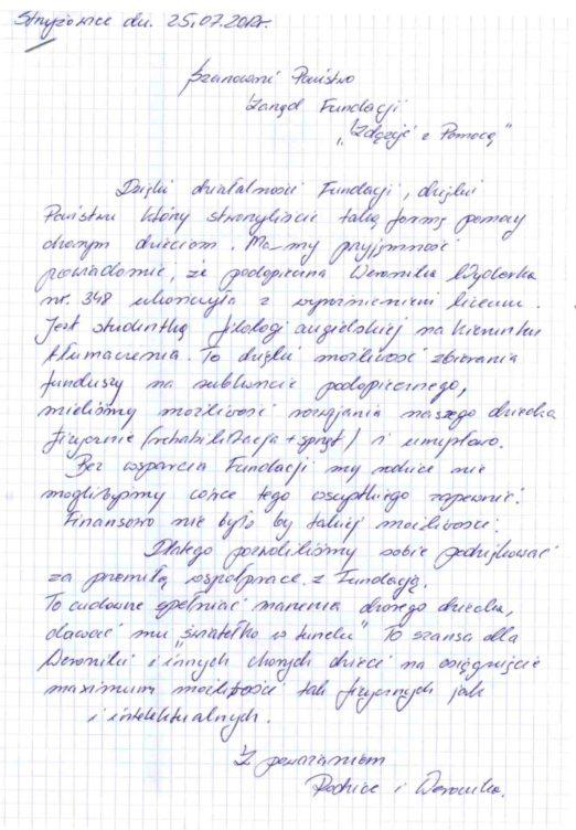 zdjęcie listu