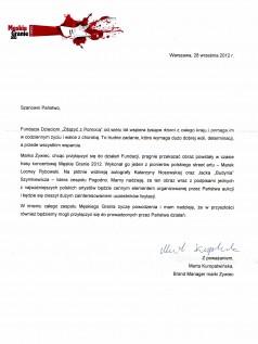 list od Marki Żywiec