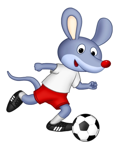 Myszka Norka z piłką nożną