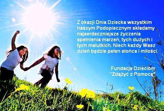życzenia od Fundacji dla dzieci
