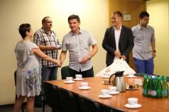 Przekazanie piłek Integracyjnym Szkółkom Piłkarskim fot.1