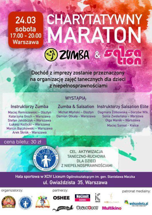 Maraton Zumba Warszawa - plakat JPG